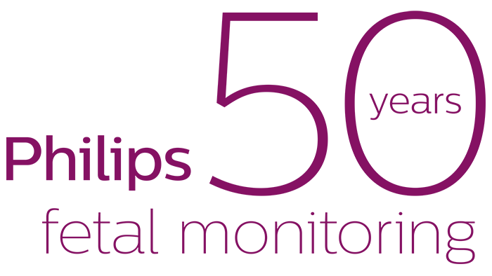 Philips 50 years in fetal monitoring logo