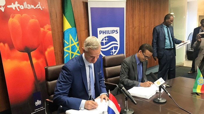 Philips and the governments of Ethiopia and the Netherlands sign seven-year agreement to build Ethiopia's first specialized Cardiac Care Center