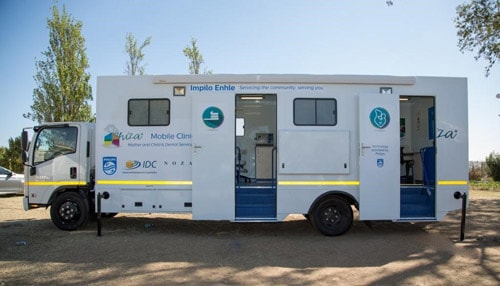 The mobile clinic vehicle
